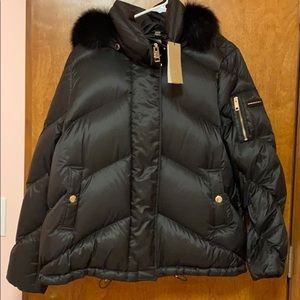 Burberry  authentic down jacket with real fur NWT